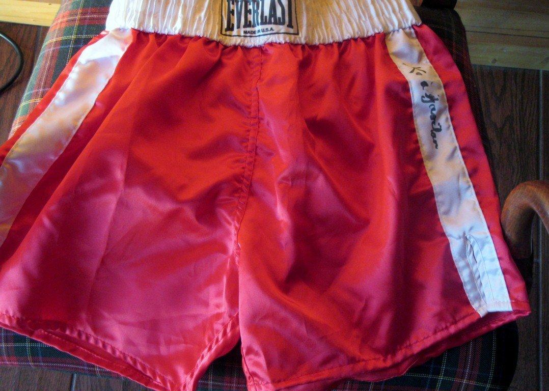 Boxing Shorts Signed Kid Gavilan