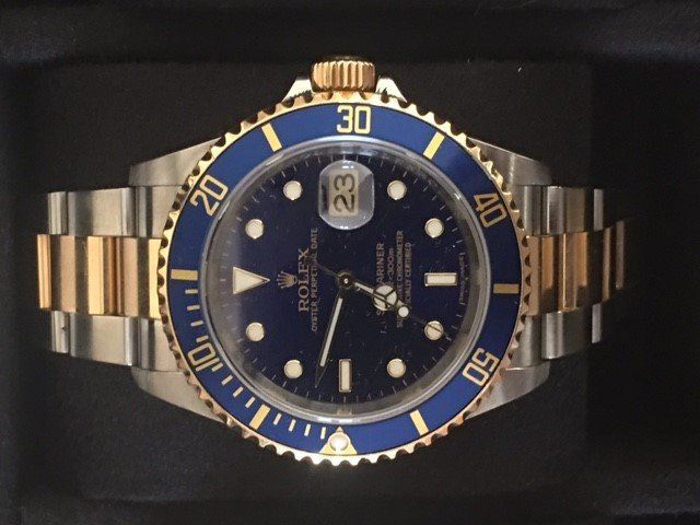 18K Rolex Oyster Perpetual Submariner Wrist Watch- Mens