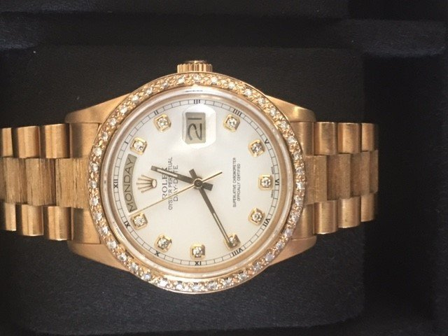 Rolex 18K Oyster Perpetual Day Date-Men's