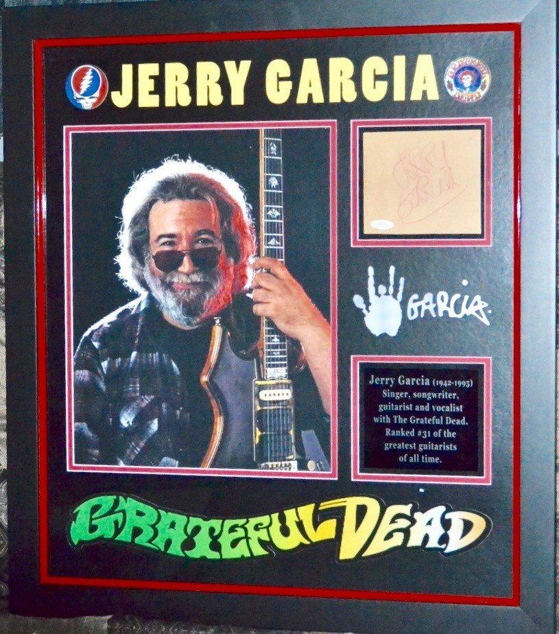 Jerry Garcia Grateful Dead Cut Out Sgd.