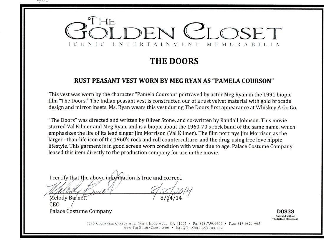 """Meg Ryan """"The Doors"""" Vest - 2"""