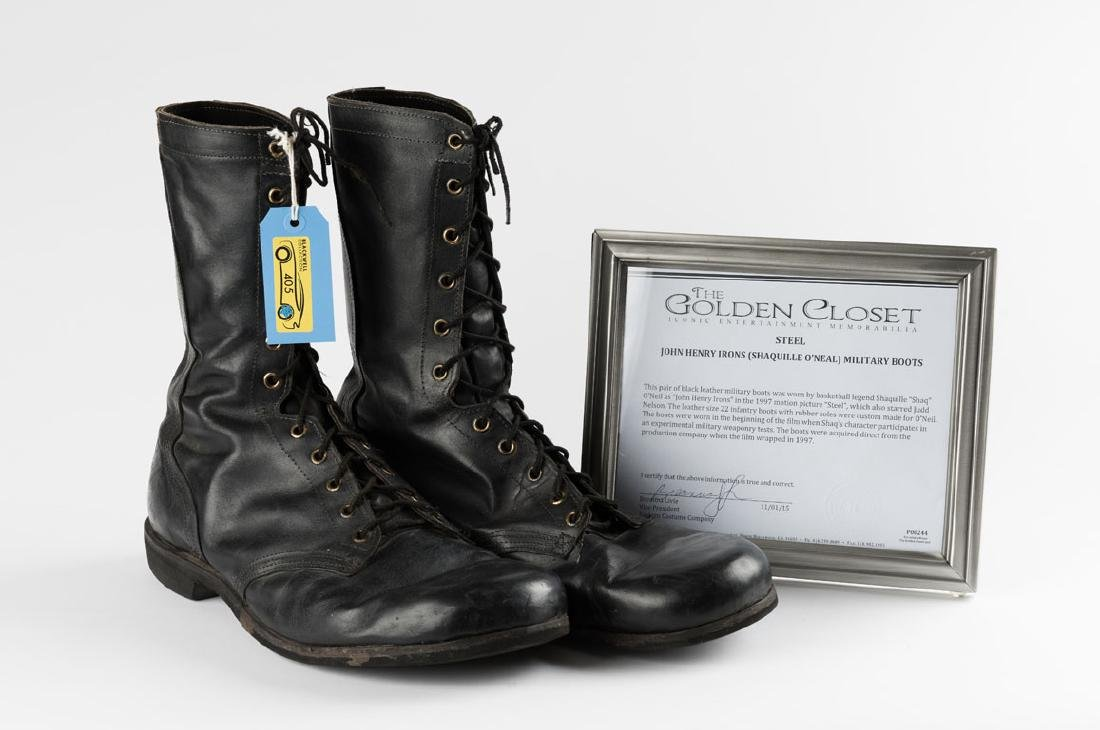 """Shaquille O'Neal """"John Henry Irons"""" Military Boots (2)"""
