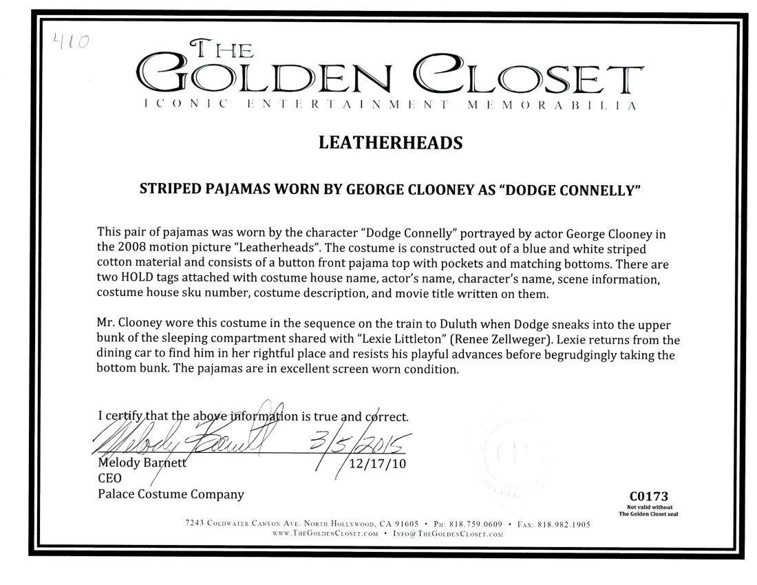 "George Clooney ""Leatherheads"" costume - 3"