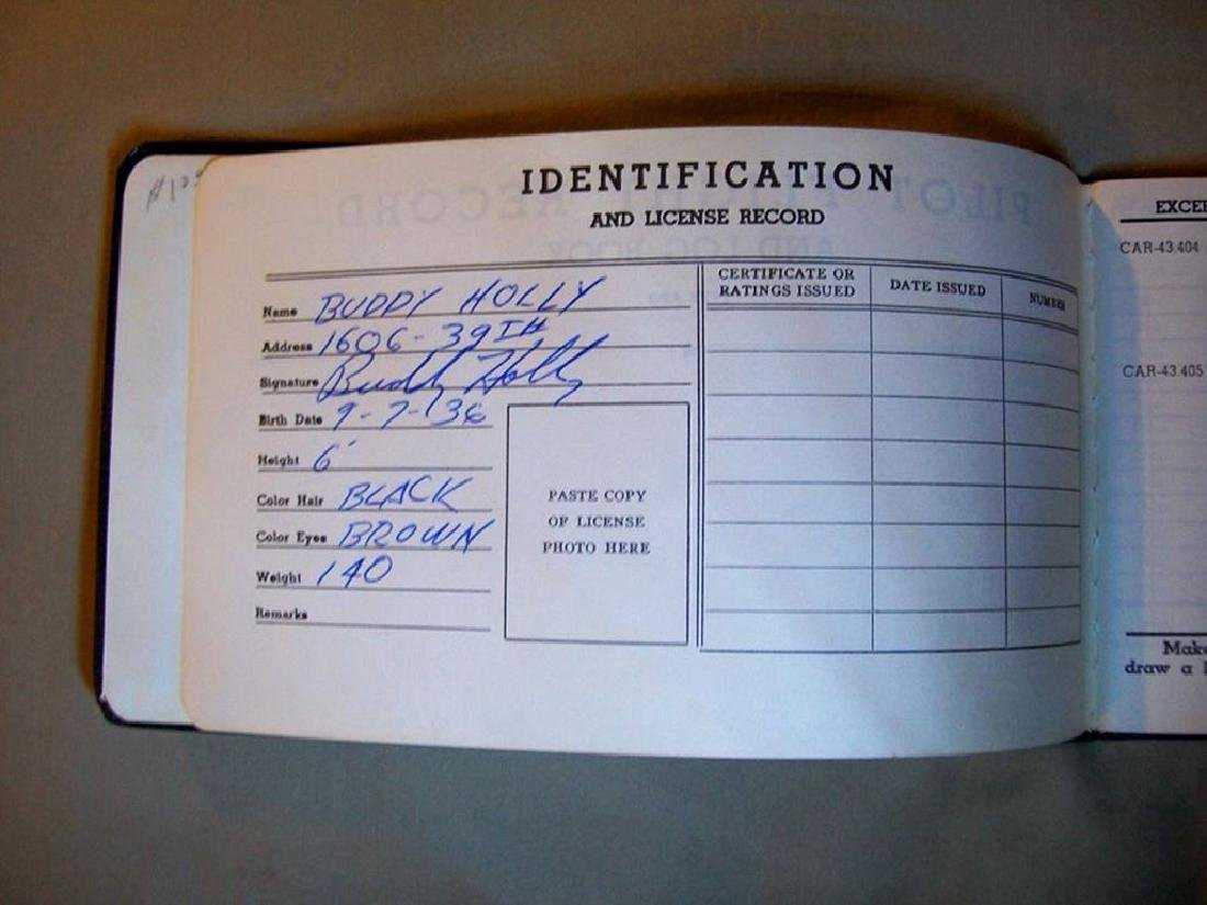 Buddy Holly Cessna 172 Plane and Sgd Flight Log Book - 10