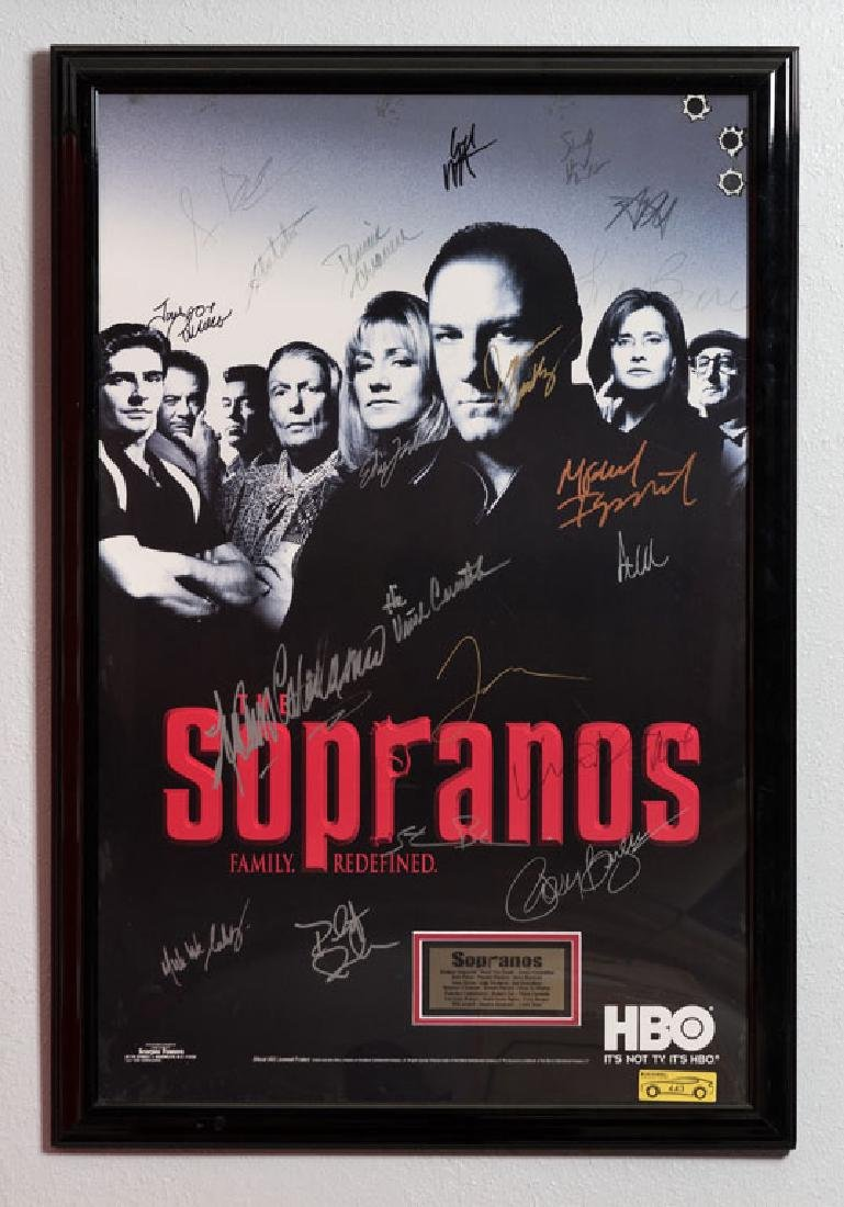 The Sopranos Cast Signed Poster