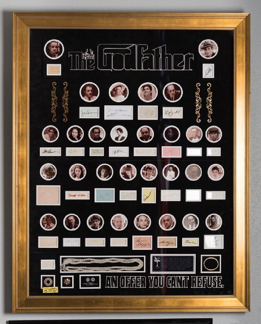 The Godfather Film Star Autographs and Jewelry Display