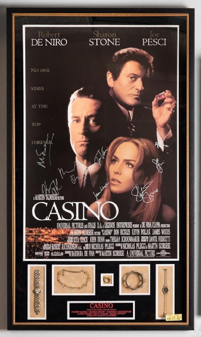 Casino Signed Poster and Jewelry