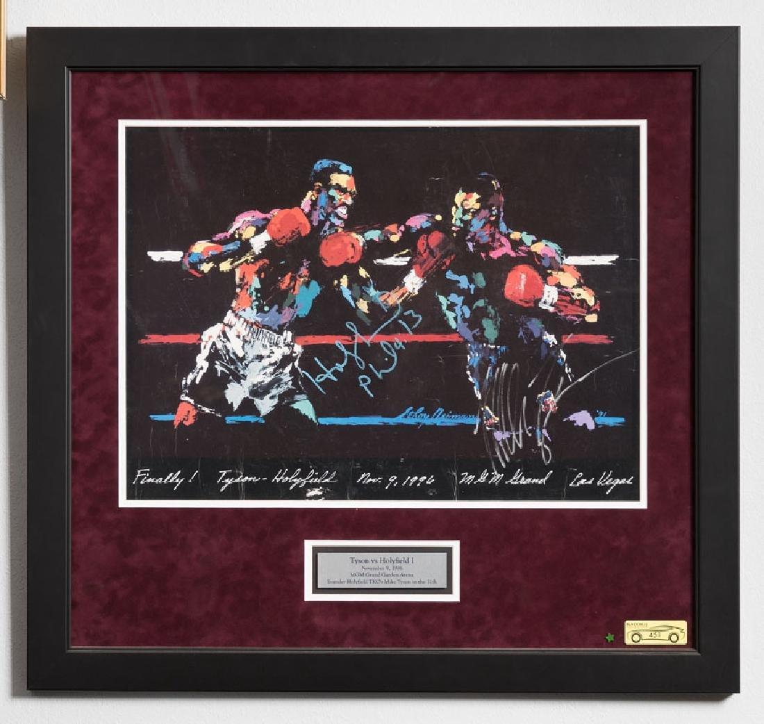 Signed Tyson vs. Holyfield Artwork