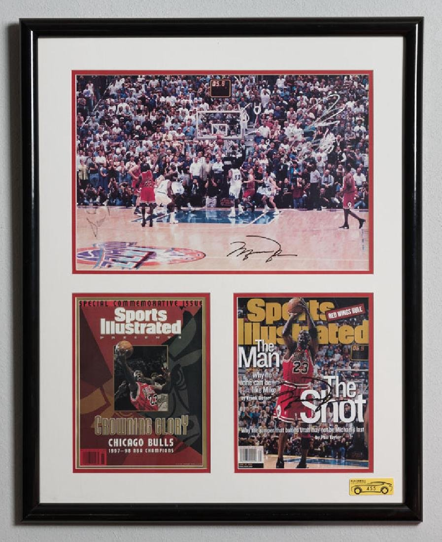Michael Jordan Signed Photo and Magazine Cover