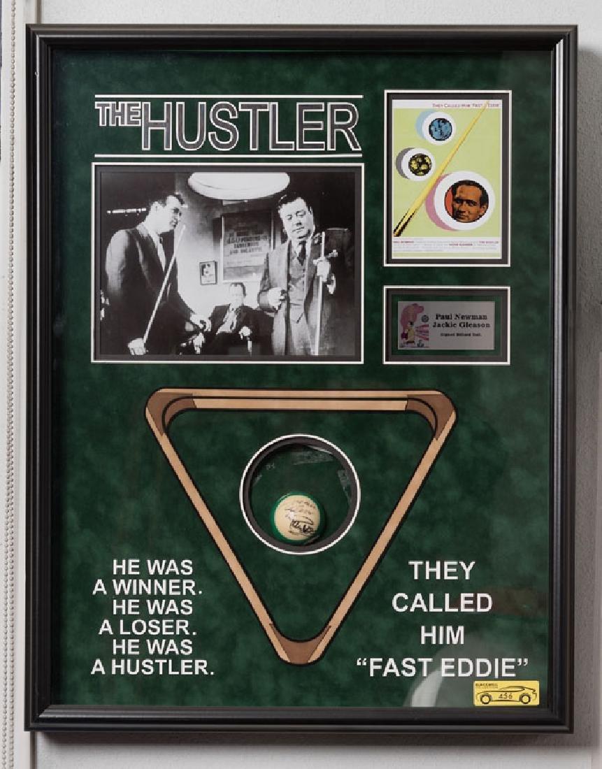 "The Hustler ""Fast Eddie"" Signed Billiard Ball"