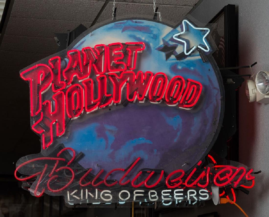 Planet Hollywood Budweiser Neon Sign