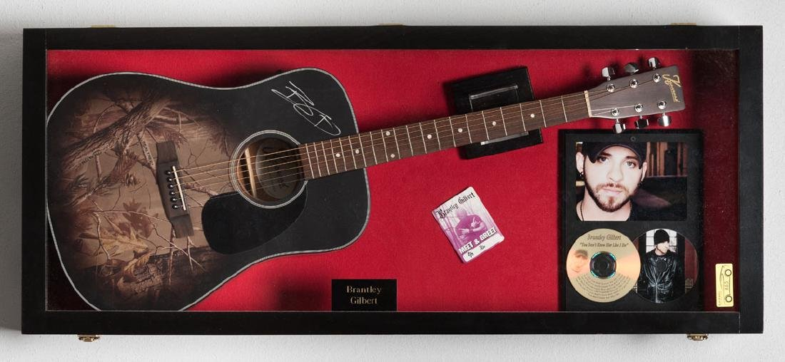 Brantley Gilbert Signed Guitar