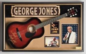 George Jones Signed Guitar