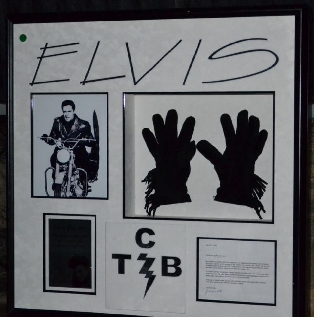 Elvis Black Suede Gloves