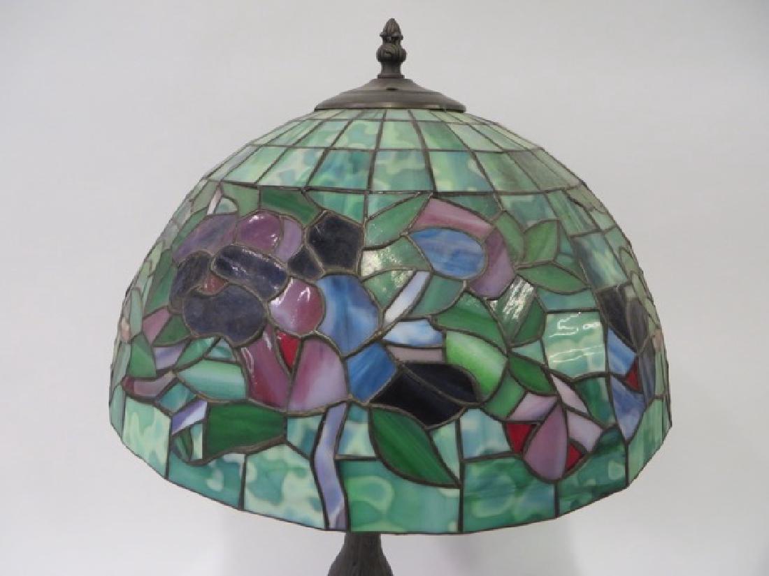 Art Nouveau Style Leaded Lamp - 2