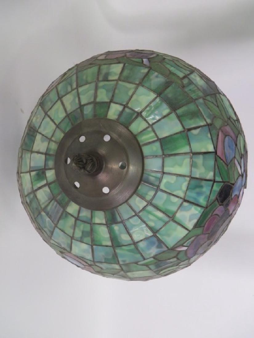 Art Nouveau Style Leaded Lamp - 4