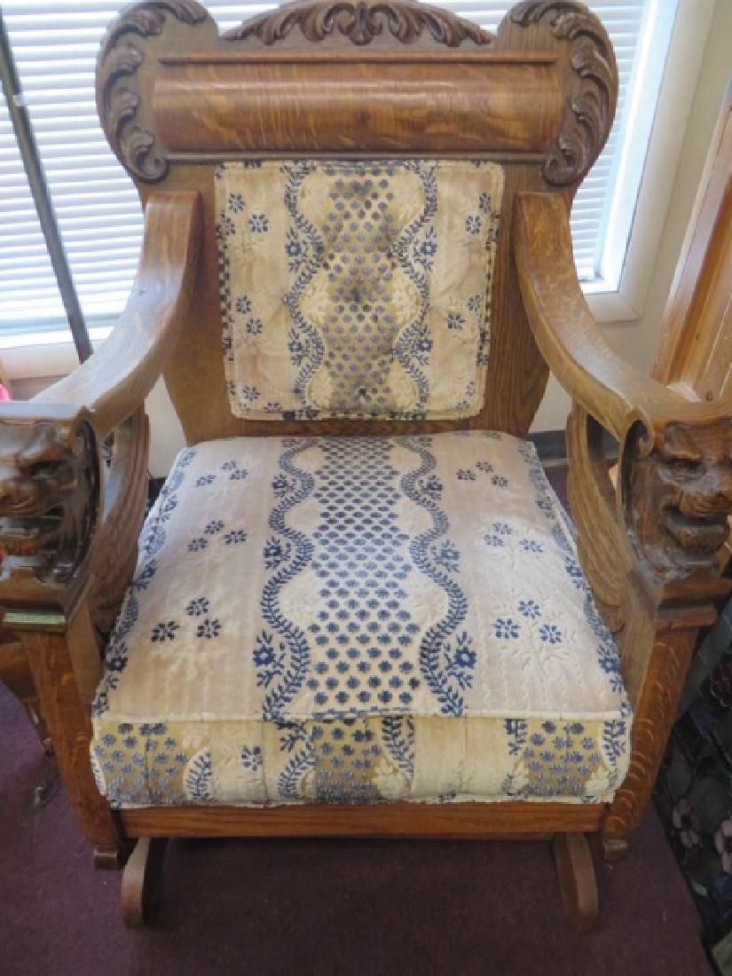 Victorian Oak Plaform Rocker