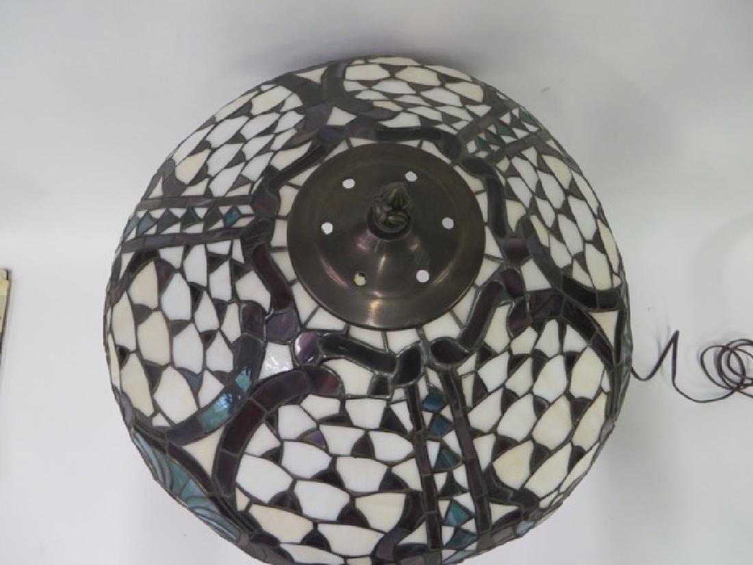 Art Nouveau Style Leaded Lamp - 3