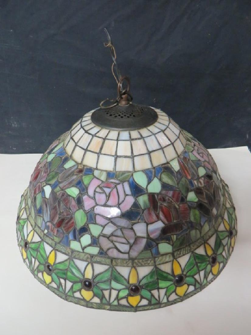 Leaded Floral Hanging Dome