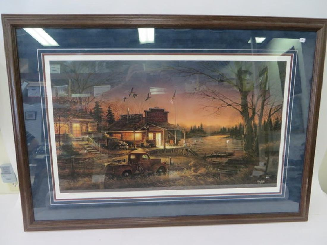 """Terry Redlin. """"Total Comfort"""" Lithograph"""