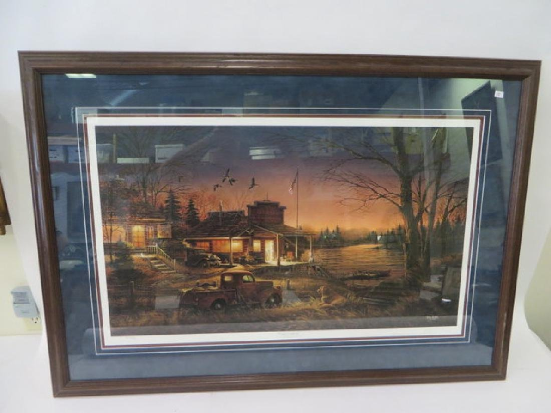 """Terry Redlin. """"Total Comfort"""" Lithograph - 2"""