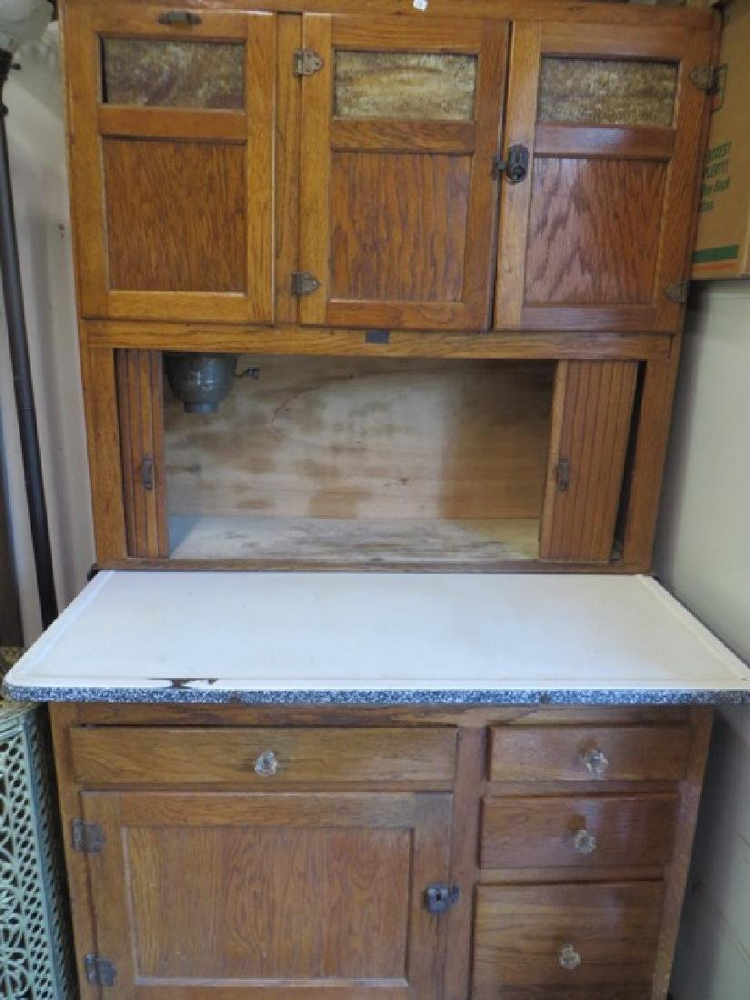 Antique  Oak Hoosier Cabinet