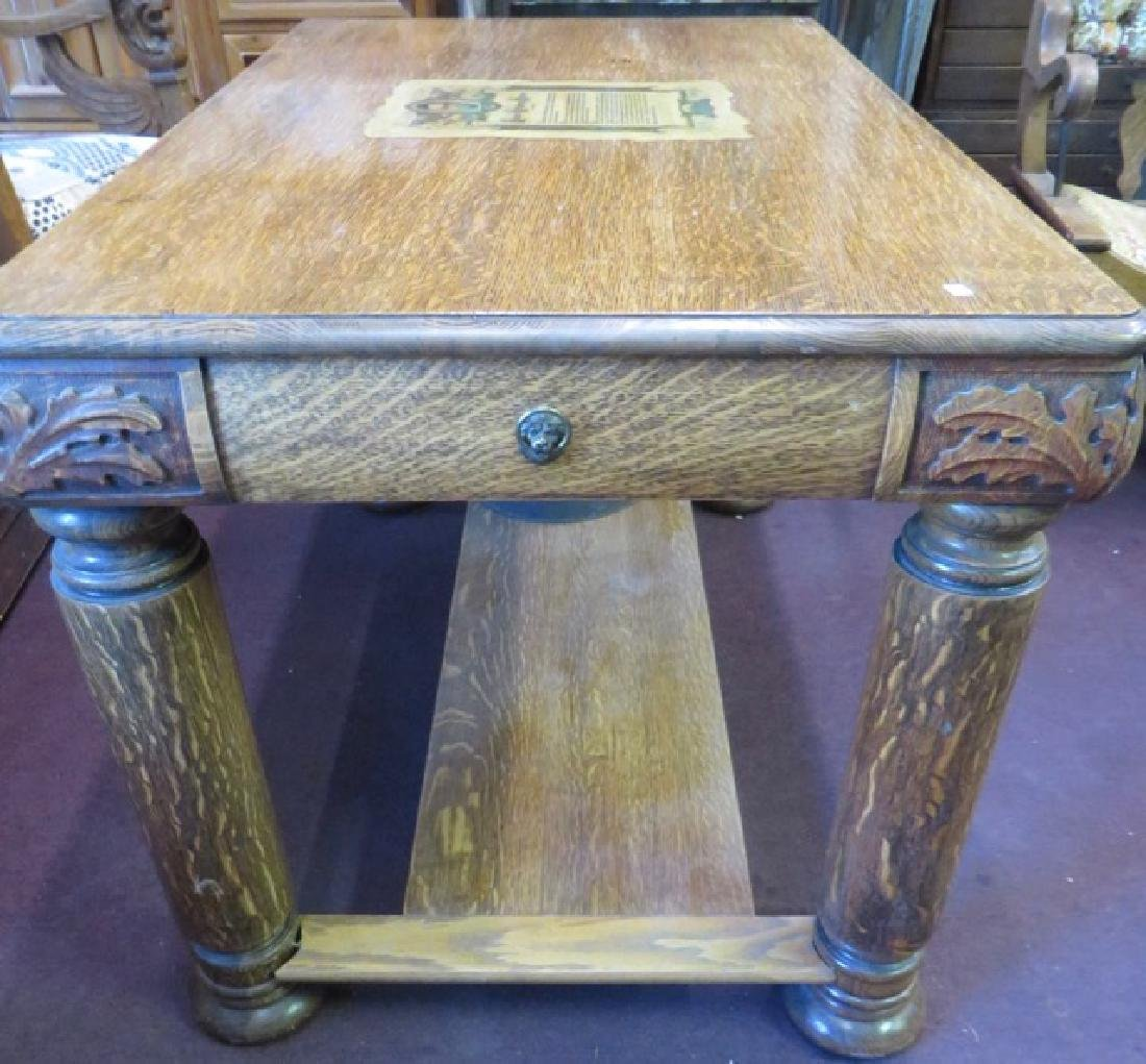 Victorian Oak Desk. - 4