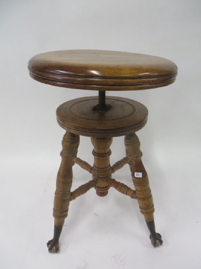 Antique Maple Piano Stool