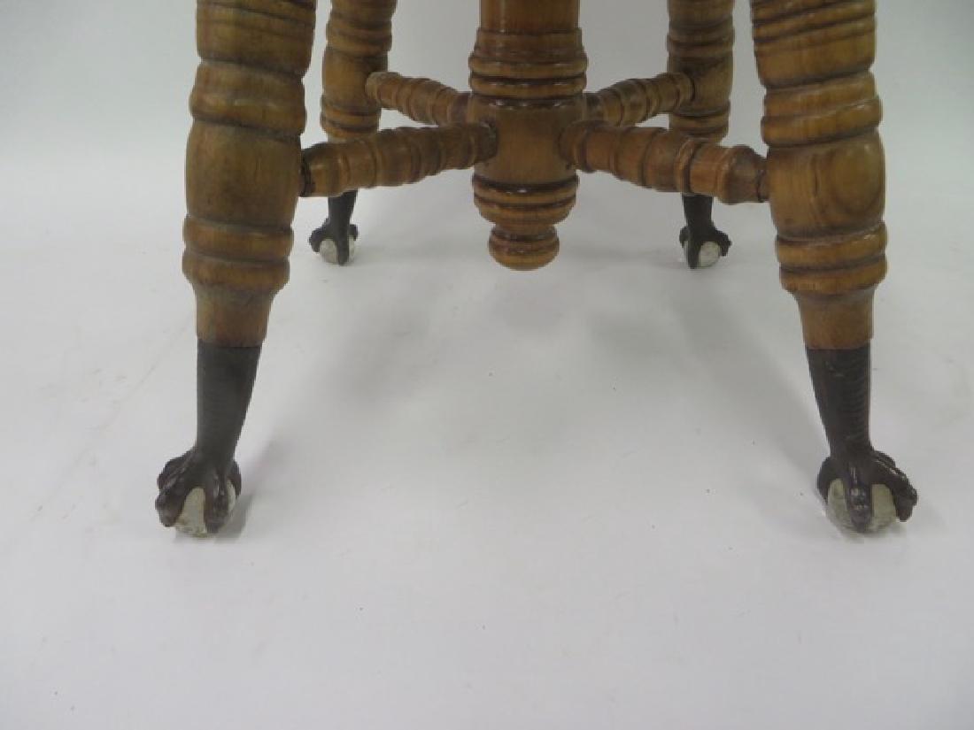 Antique Maple Piano Stool - 2