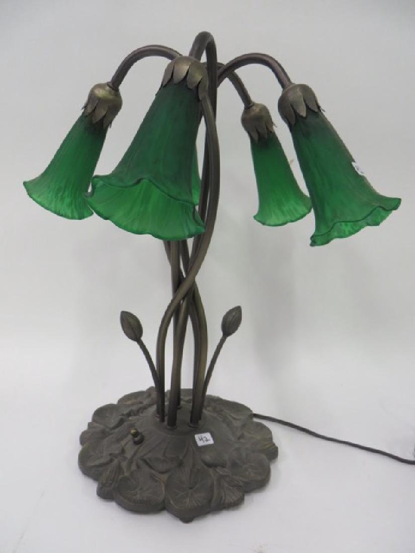 Lily Lamp. Four Shades. Lily Pad Base