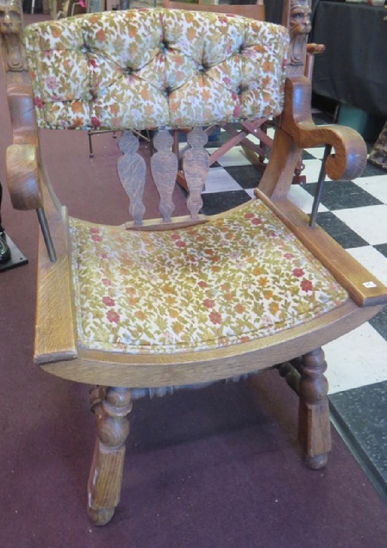 Victorian Oak  Parlor Chair