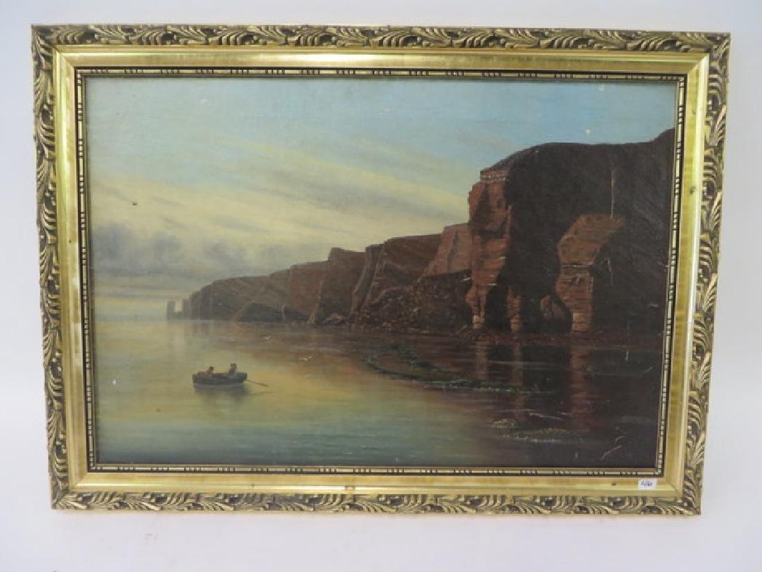 A. Richter. Oil. Seascape. Sgd.