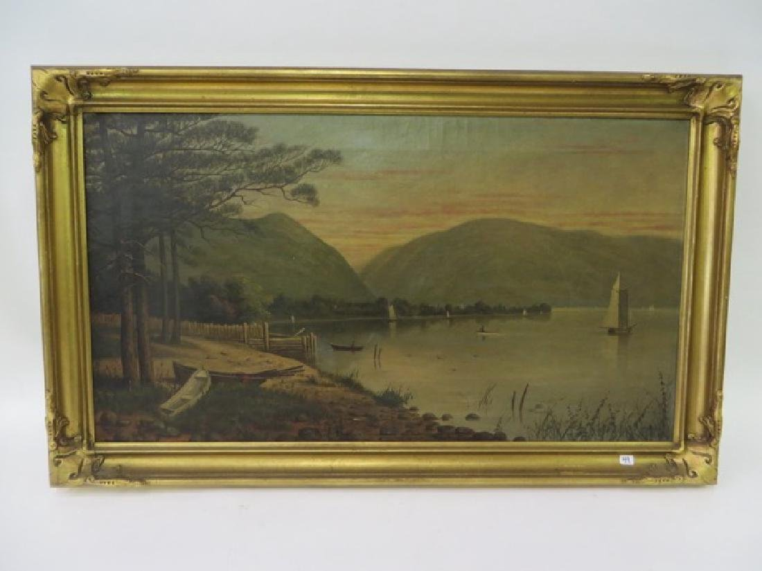 T. B. Pope. Oil. Hudson Highlands. Signed - 2