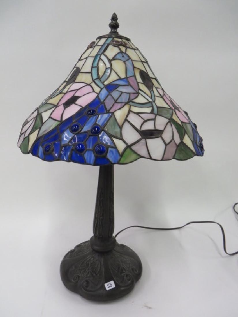 Art Nouveau Style Leaded Lamp