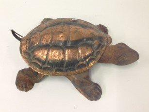Antique Cast Iron Turtle Spitoon