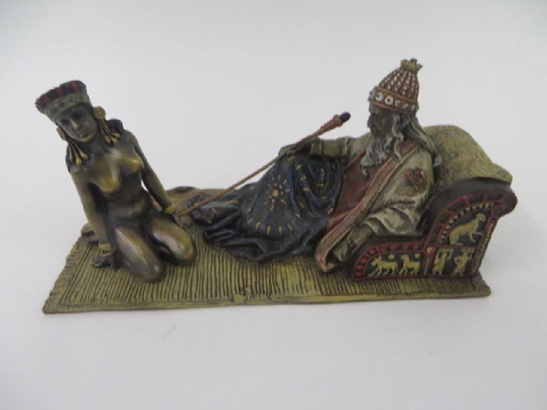 Vienna Bronze. Polychromed.