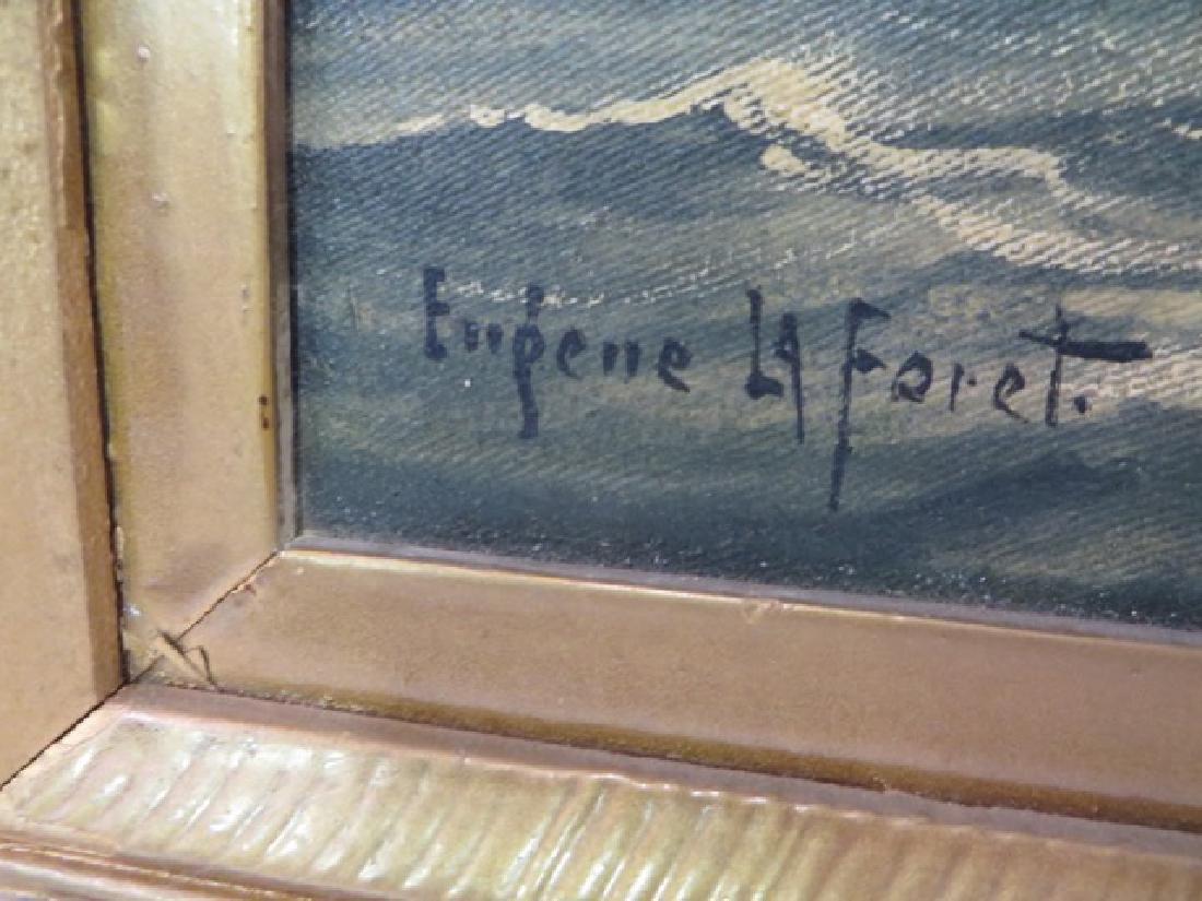 Eugene La Foret . Oil. Sailing Ships. Sgd. - 2