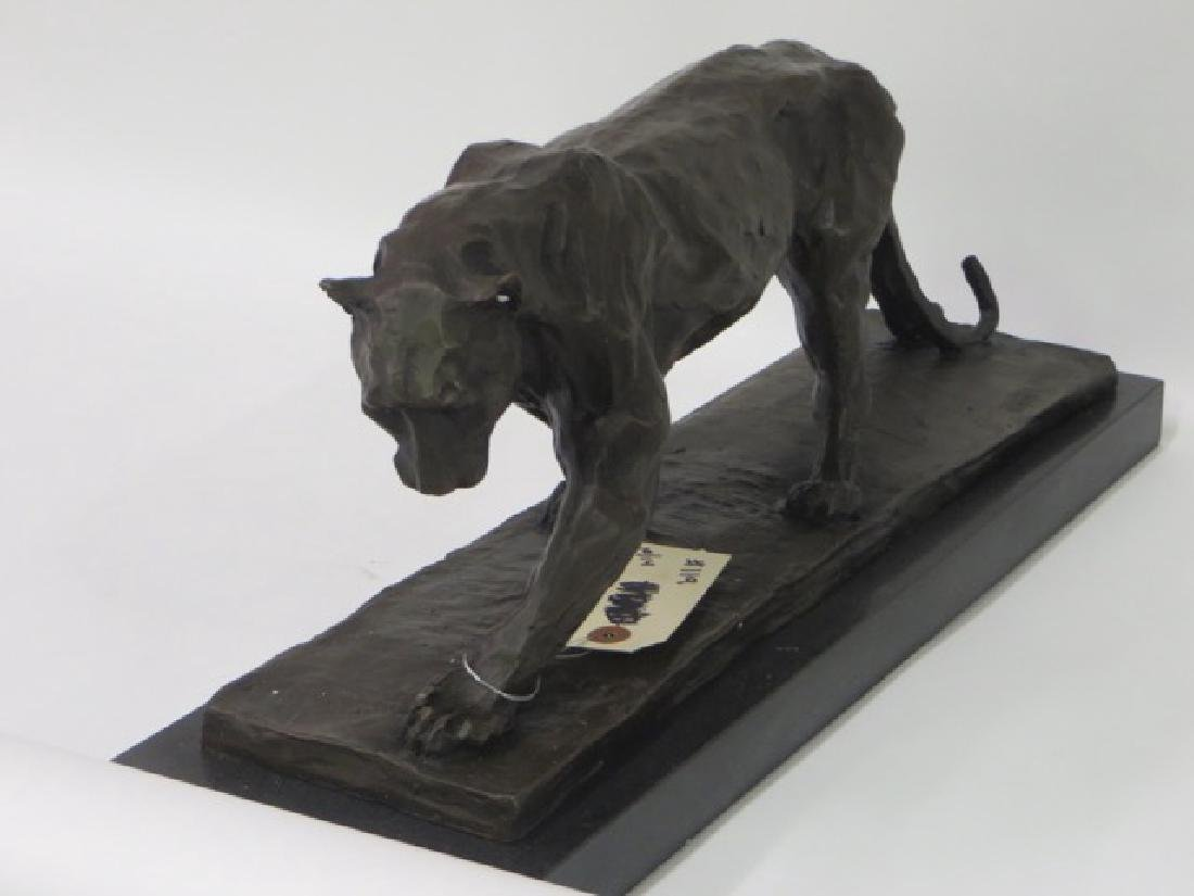 Bronze Art Deco Tiger. Marble Base - 2