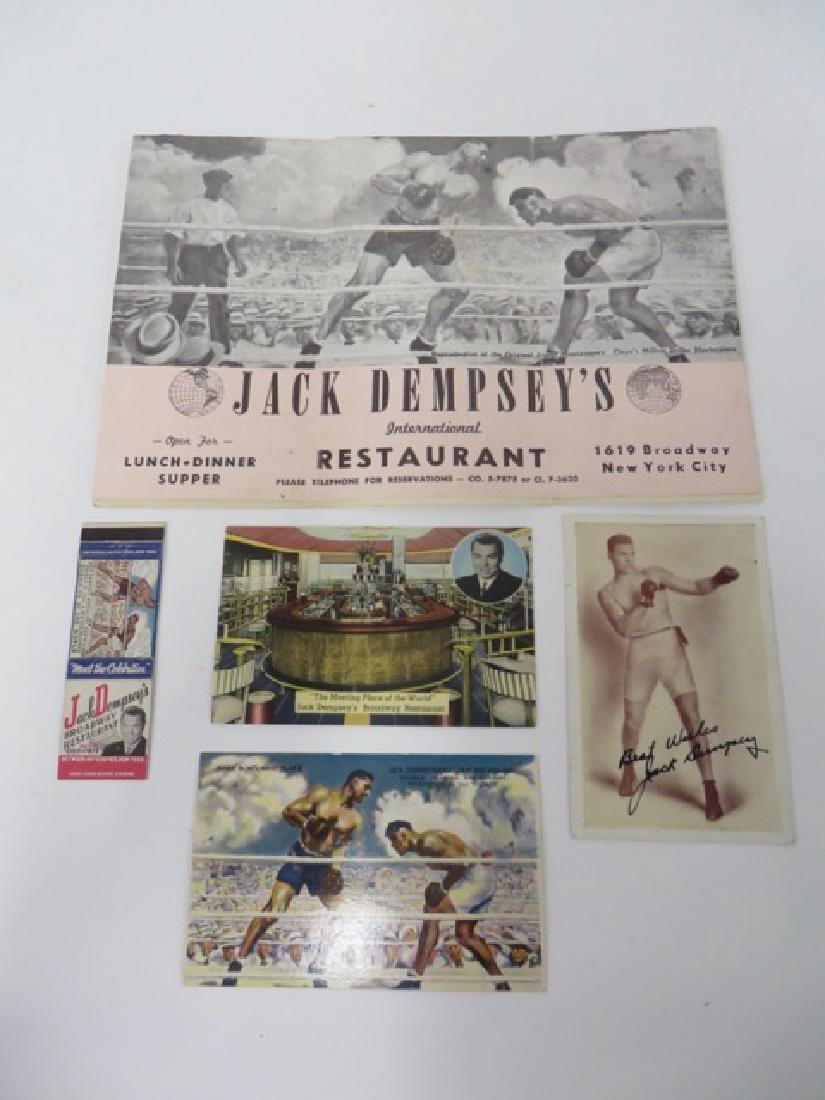 Jack Dempsey Autograph & Memorabilia