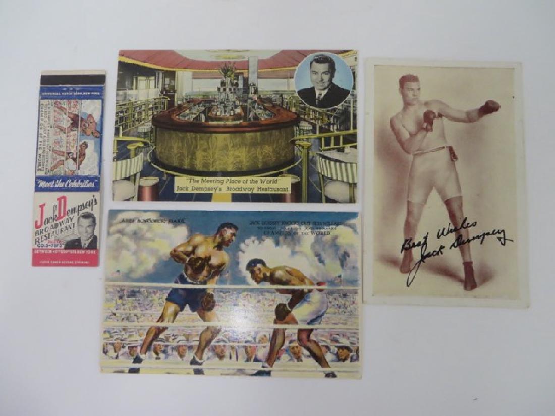 Jack Dempsey Autograph & Memorabilia - 5