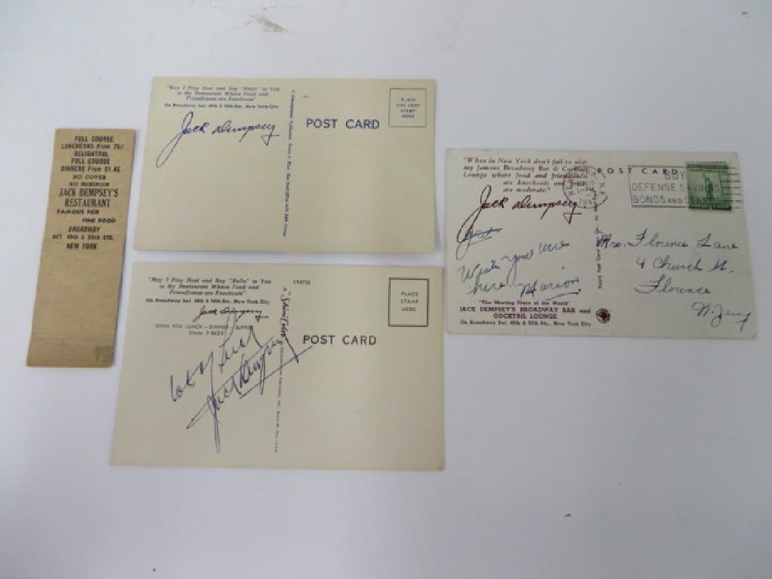 Jack Dempsey Autograph & Memorabilia - 6