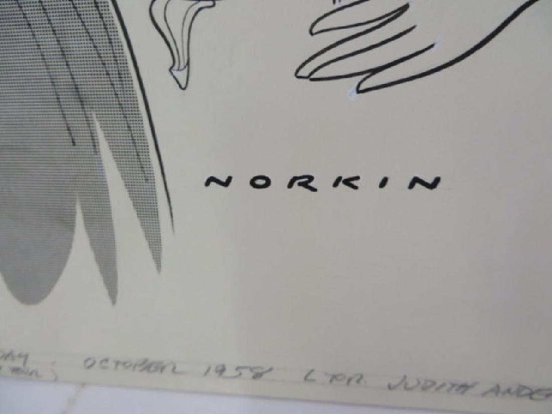 Sam Norkin Original Pen and Ink Sgd. - 2