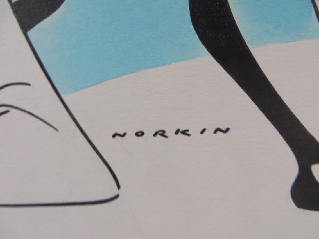 Sam Norkin Original Pen and Ink Sgd. - 5