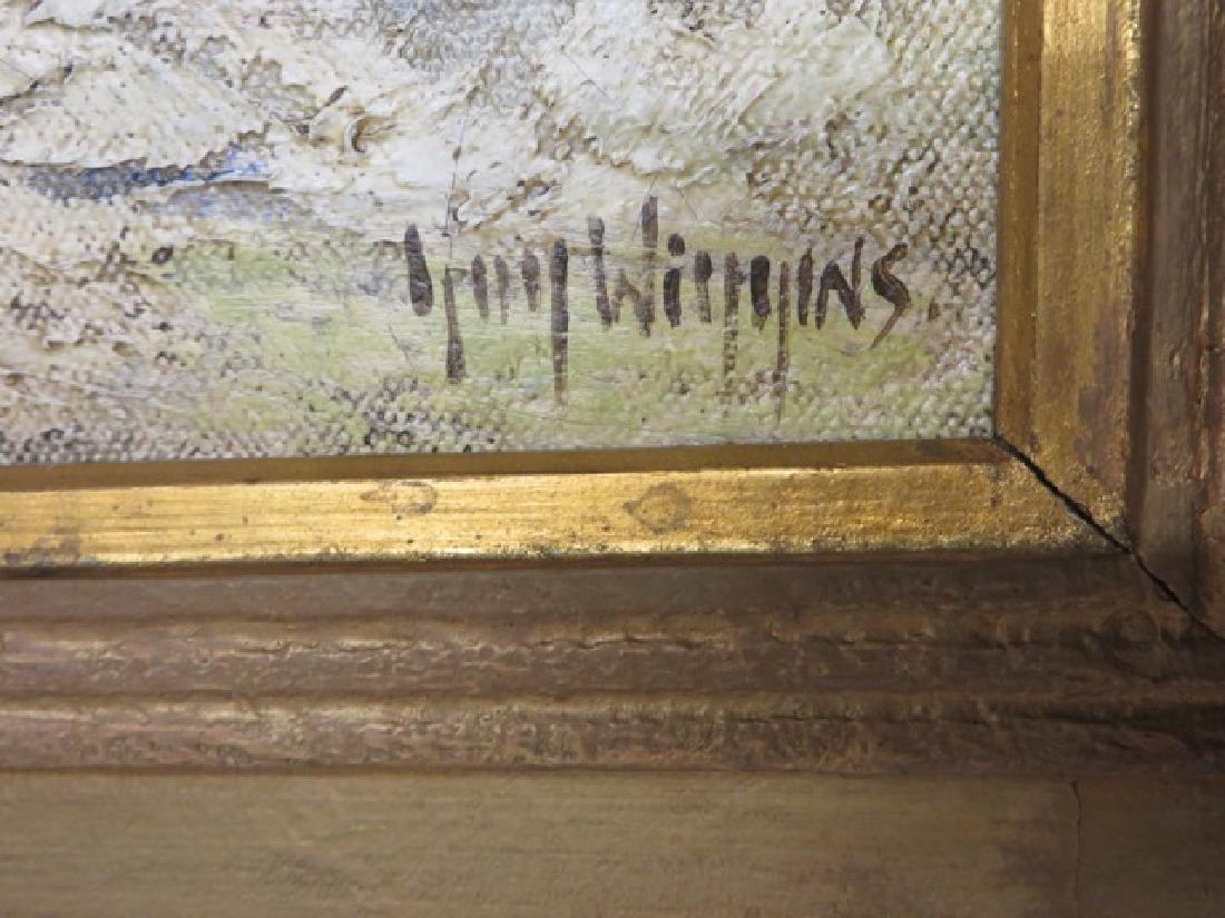 """Guy Wiggins. Oil. """"Brooklyn Bridge"""" Sgd. - 4"""