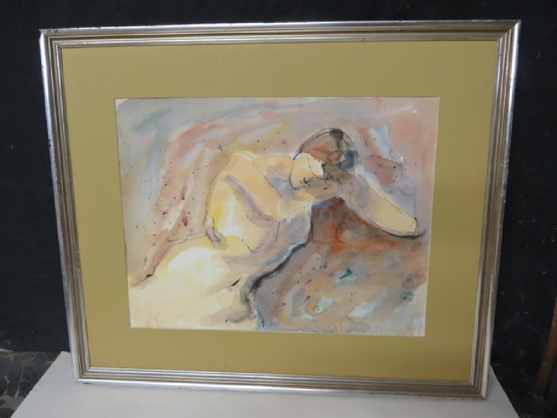 Romare Bearden. Watercolor  Sgd. - 2