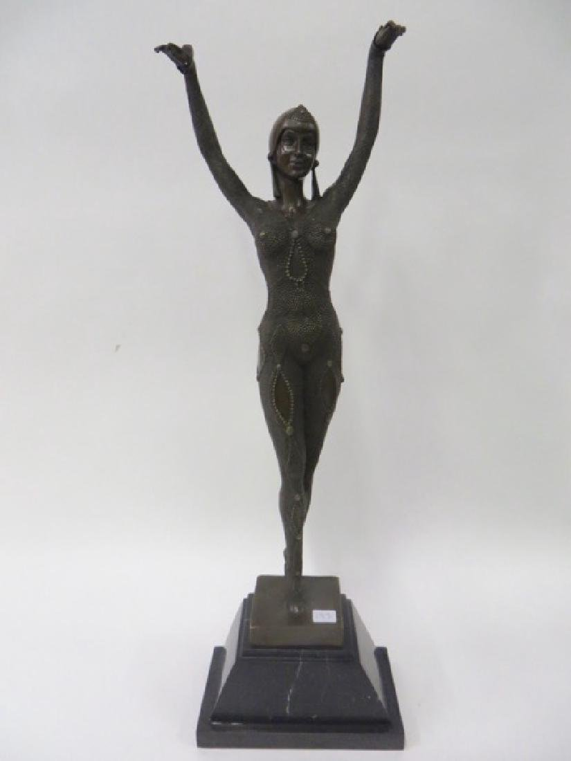 Art Deco Bronze in the style of Chiparus