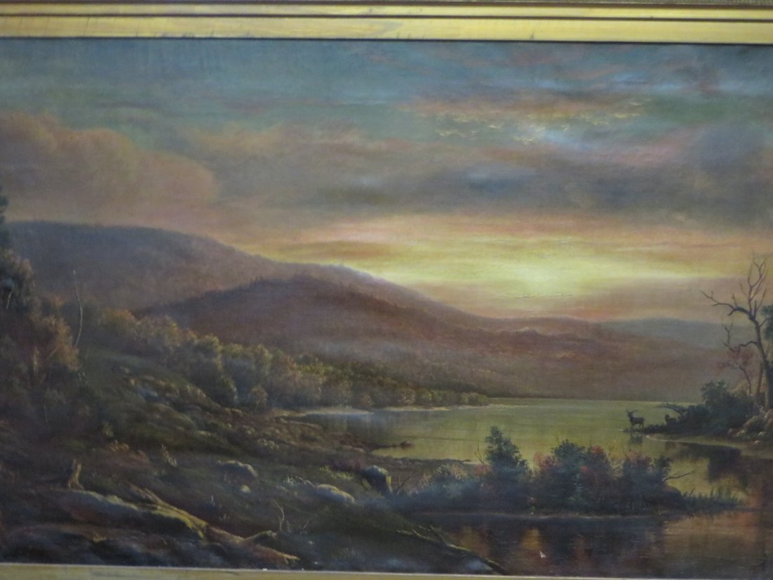 Homer Dodge Martin. 19th C. Oil. Signed