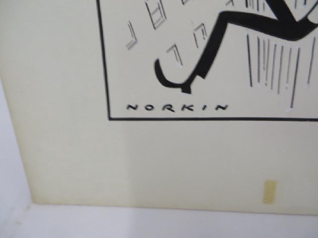 Sam Norkin. Original Illustration. Sgd. - 2