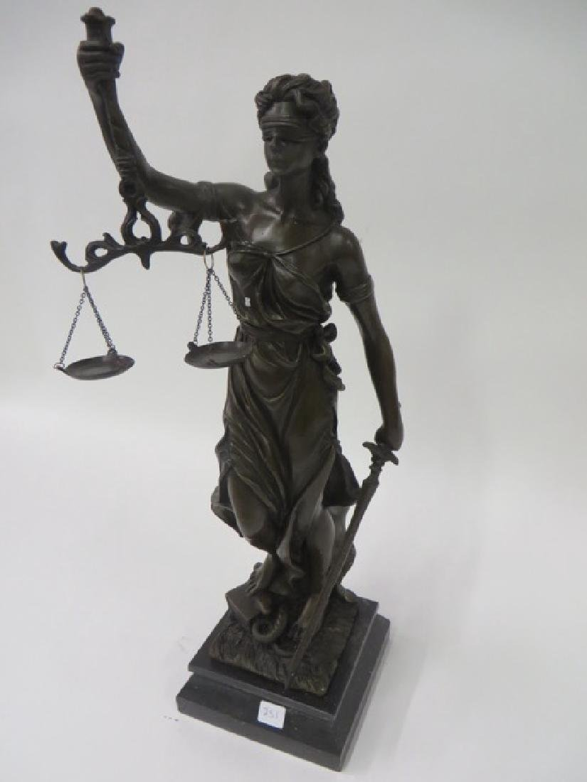 Bronze Figure. The Scales of Justice