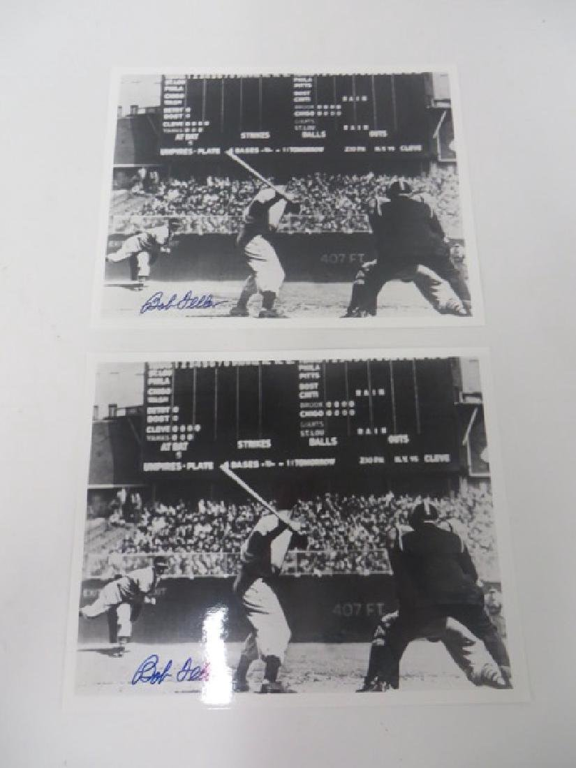 Bob Feller Autographed Photographs (2)